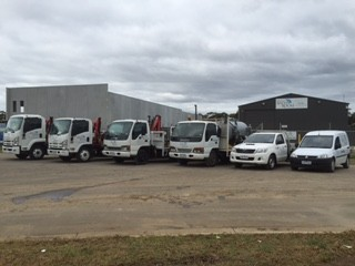 Portable Toilet Hire Trucks at the Ready at our Depot