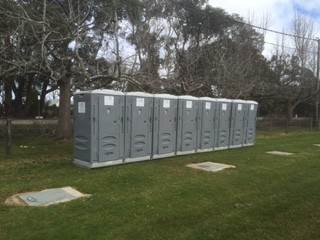 Porta Potties Installed